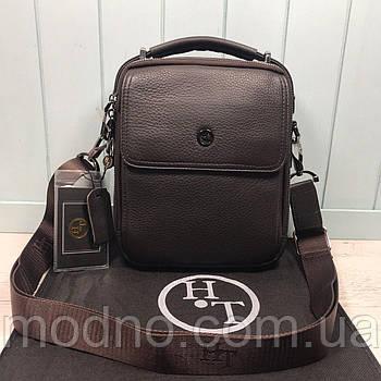 Чоловіча шкіряна сумка через плече H. T. Leather