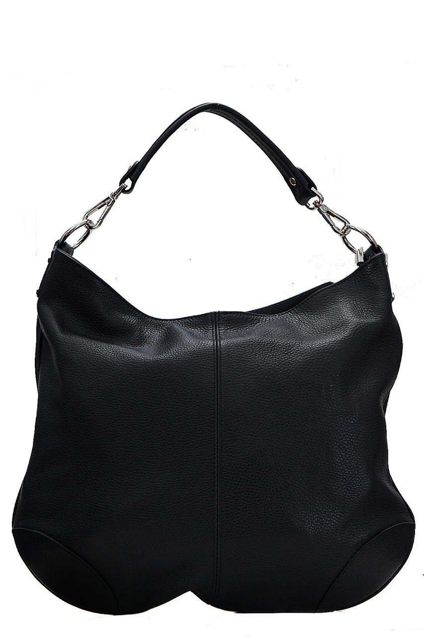 Тоут женская кожаная сумка FEDRA Diva's Bag цвет черный