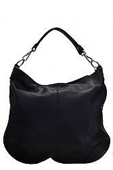 Тоут жіноча шкіряна сумка FEDRA diva's Bag колір чорний