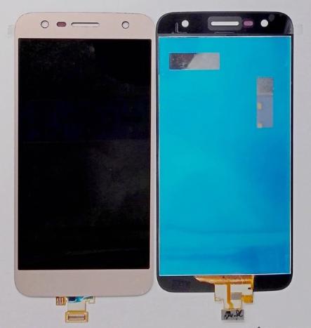 Дисплей (экран) для LG M327 X Charge с сенсором (тачскрином) золотистый Оригинал