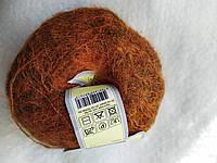 Пряжа ЯрнАрт  Кид Мохер , цвет - рыжий с металликом