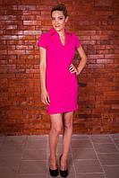 Трикотажное летнее платье Поло с украинской символикой, фото 1