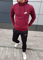 Мужской спортивный костюм на флисе с капюшоном осень/зима