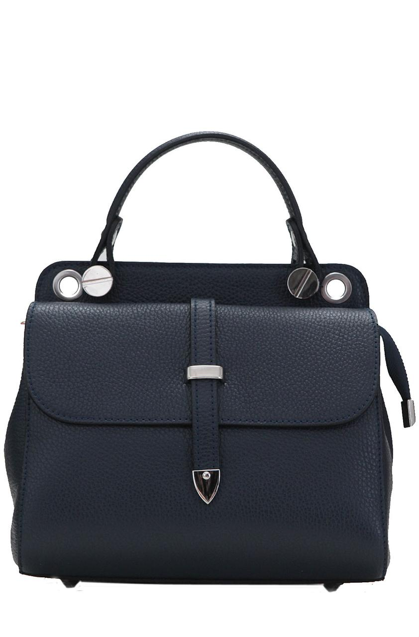 Женская кожаная каркасная сумка TABBY Diva's Bag цвет темно-синий