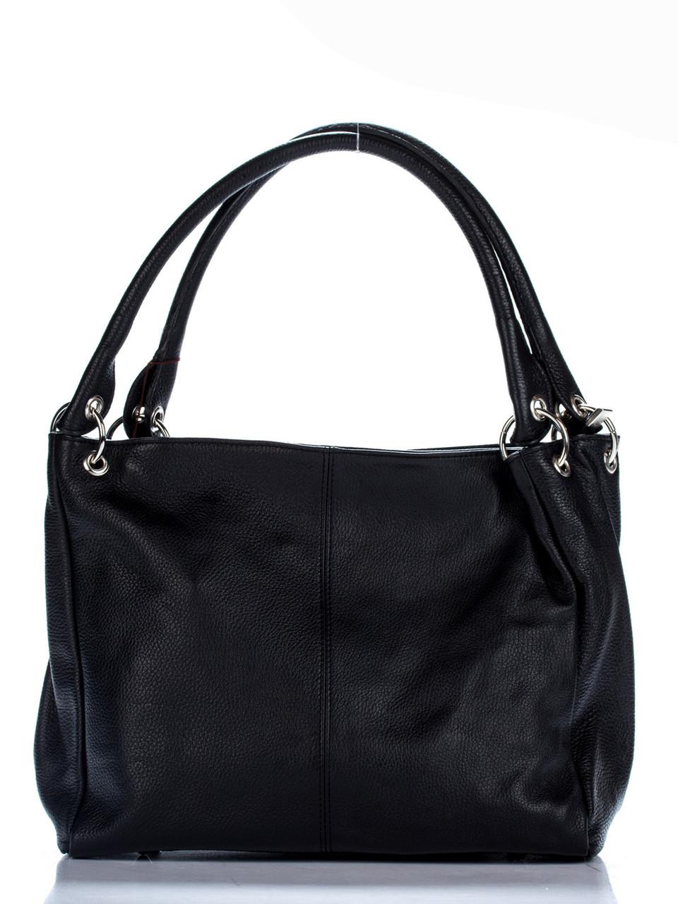Женская кожаная сумка ASIA Diva's Bag цвет черный