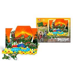 Конструктор динозавры, шестеренки, мозаика, QQ-33