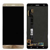 Дисплей (экран) для телефона Asus ZenFone 3 Deluxe ZS570KL + Touchscreen (original) Gold