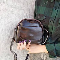 """Женская кожаная сумка коричневая """"Лукерья Brown"""", фото 1"""