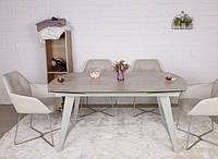 Стол обеденный CALGARY (160+35+35)*90*77 керамика беж