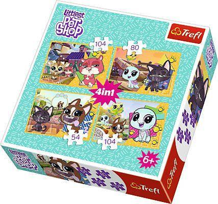 """Пазлы Trefl """"Приятные воспоминания, Hasbro, Littlest Pet Shop"""", 4 в 1, 34295, фото 2"""