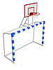 Ворота для футболу 2500х1700 мм з баскетбольним щитом