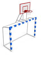 Ворота для футболу 2500х1700 мм з баскетбольним щитом, фото 1