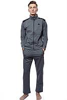 Спортивный костюм Мужской 70% полиэстер, 30% хлопок серый ADIDAS все размеры  L