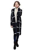 Модный женский кардиган черного цвета и большую серую клетку. Состав: 70% акрил, 30% шерсть. Бренд Sevil.