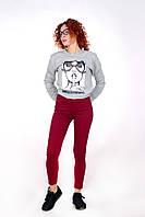 Жіночі джинси кольору Бордо Skynni Slim AROX
