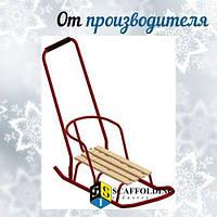Металлические детские санки СНЕЖИНКА-2