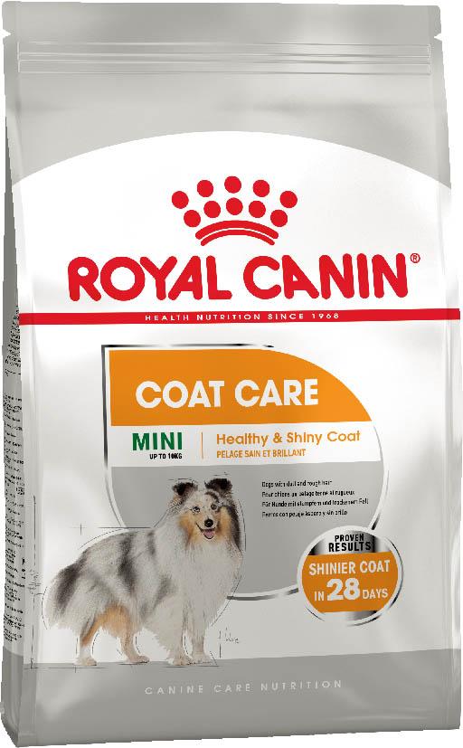 Сухой корм Royal Canin Mini Coat Care для собак малых пород с тусклой и сухой шерстью 1КГ