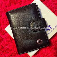 Черная кожаная кредитница для авто документов и ID карти
