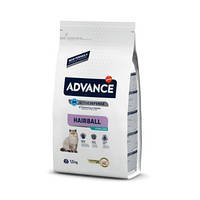 Корм для кошек ADVANCE(Эдванс) Cat Hairball выведение шерсти индейка, 1,5 кг