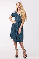 Женское платье бирюзовая роза Lipar Синее Батал