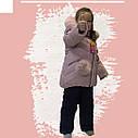 Зимовий комбінезон на дівчинку куртка+напівкомбінезон кольору пудри, фото 4
