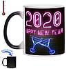 Чашка хамелеон З Новим 2020 роком 330 мл