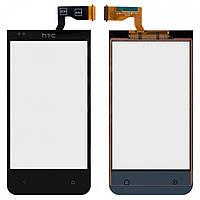 Touchscreen (сенсорный экран) для HTC Desire 310, 128*63,5 мм, черный, оригинал