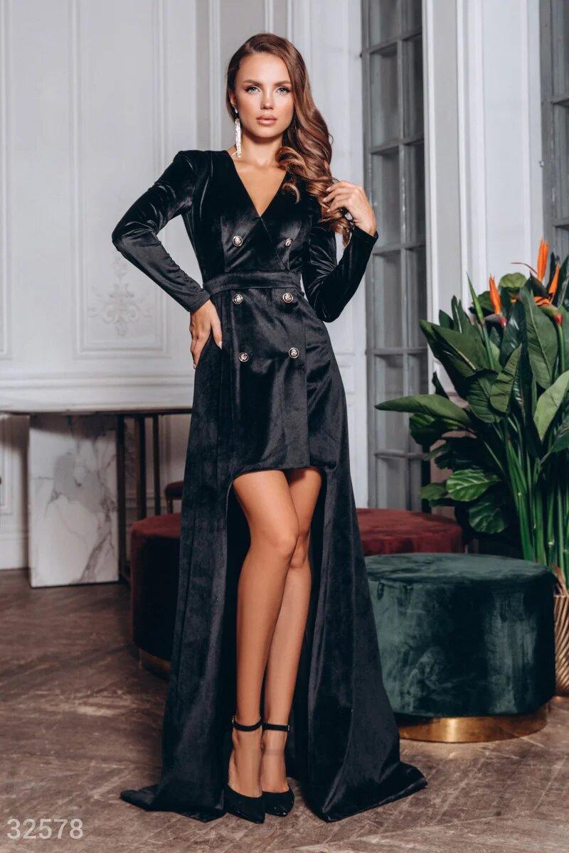 Gepur / Двубортное платье со шлейфом