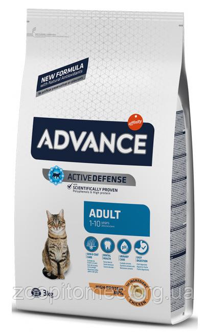 Корм для кошек ADVANCE (Эдванс) Cat Chicken Rice курица с рисом, 1,5 кг