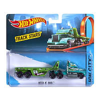 Грузовик трейлер Hot Wheels Track Trucks HITCH N' HAUL Хот Вілс. Mattel BFM63-K912  Оригінал (BFM60)