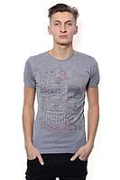 Хорошая футболка с рисунком серый ALICO