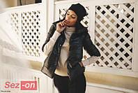 Куртка женская короткая на кнопках - Черный