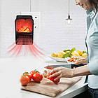 Електричний портативний міні-обігрівач камін з пультом Flame Heater 900W ОПТ, фото 6