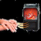 Електричний портативний міні-обігрівач камін з пультом Flame Heater 900W ОПТ, фото 2