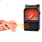 [ОПТ] Электрический мини-обогреватель Flame Heater 900W. Портативный мини-камин Flame Heater 900W, фото 2