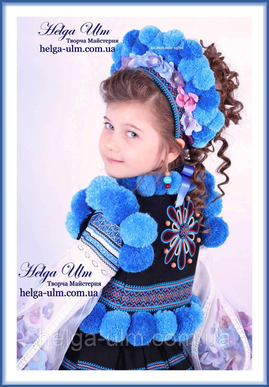 """Український стрій """"МарциПані"""" для дівчинки (+відео) 146"""