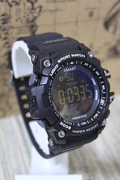 Спортивні розумні годинник Smart Watch EX 16 водонепроникні чорні