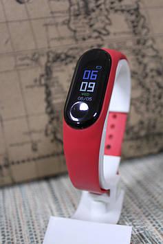 Смарт браслет М3 plus кольоровий екран, Bluetooth червоний