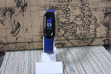 Умный фитнес браслет Smart М3 plus цветной экран, Bluetooth синий