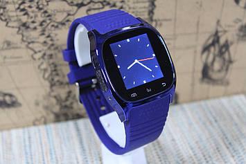 Розумні смарт-годинник Smart Watch M26 синій блютуз з'єднання