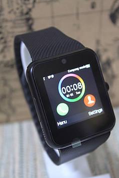 Розумні смарт-годинник Smart Watch GT08 чорні в чорному sim карта з камерою
