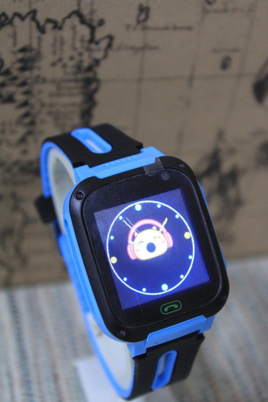 Детские смарт-часы V5 Q9 с камерой голубые
