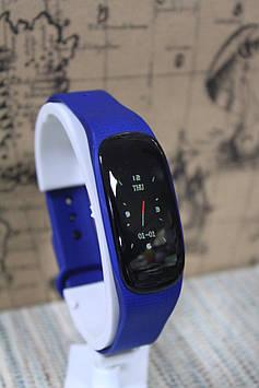 Розумний фітнес браслет Smart M5 + водонепроникний синій