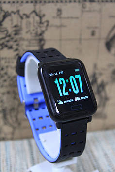 Ексклюзивні розумні годинник Smart Watch А6 м20 синій браслет