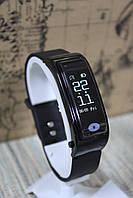 Умный фитнес браслет Smart и блютуз наушник 2 в 1 Y3 музыка спорт мониторинг сердечного ритма черный