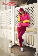 Куртка женская короткая на кнопках - Розовый