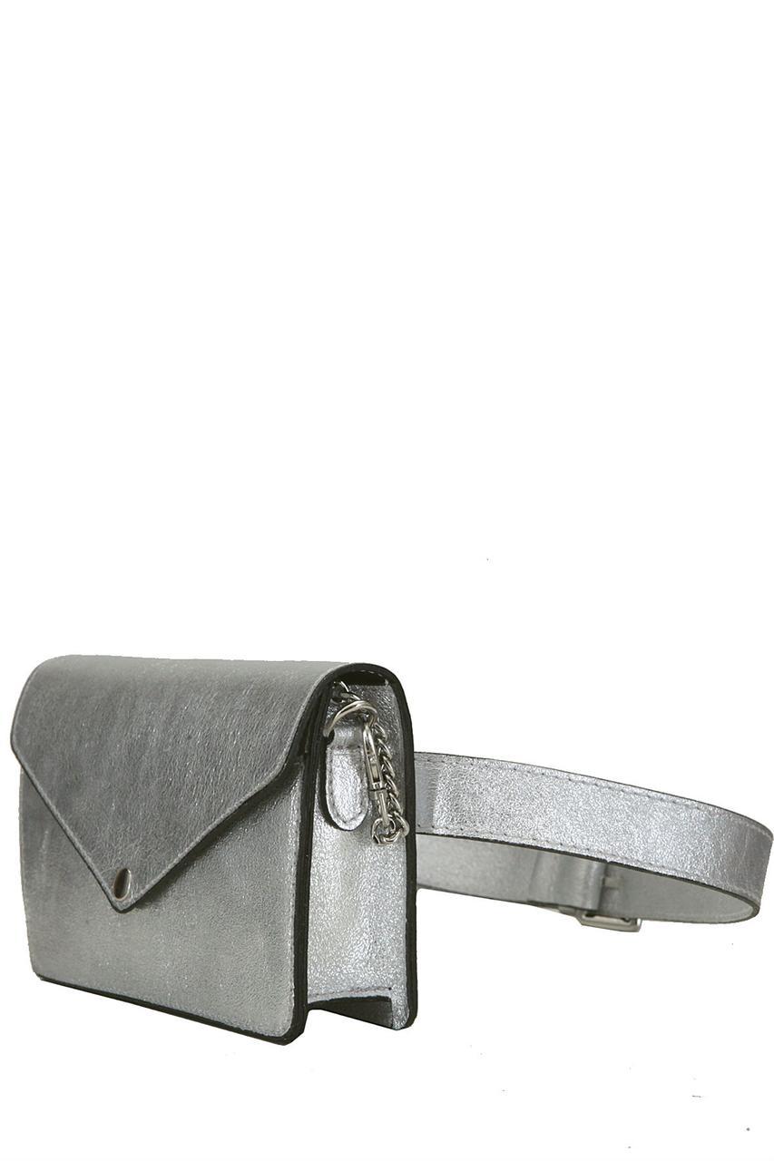 Женская NURIA сумочка-клатч Diva's Bag серебряная 20 см х 13 см х 5 см