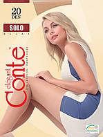 Напівматові колготки з посиленим торсом Conte SOLO Relax 20, 5, mocca