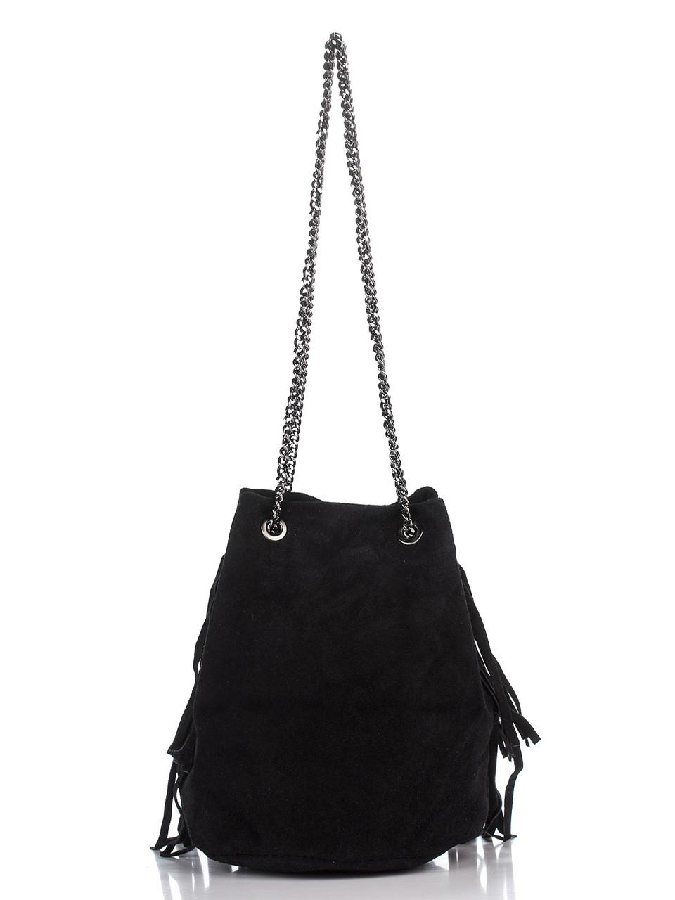 Женская кожаная сумка NAIMA Diva's Bag цвет черный