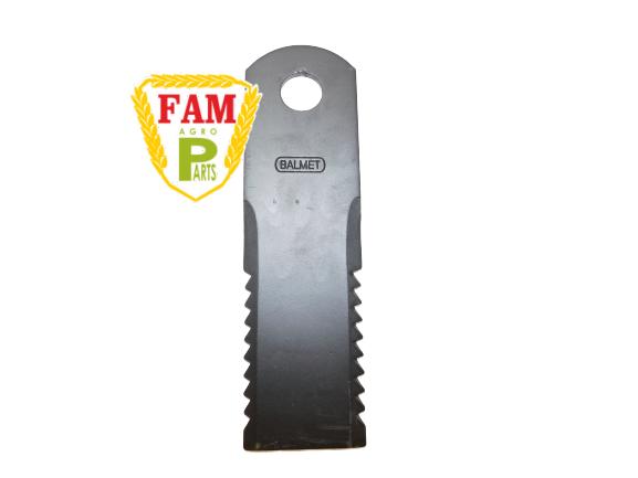 Нож бильный подвижный (ЗУБЧАСТЫЙ) Balmet 173х50х3 д18, 060017 Claas, 600172 Claas